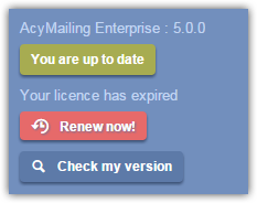 Licence expired