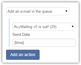Add e-mail in the queue