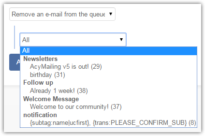 Remove e-mail from the queue